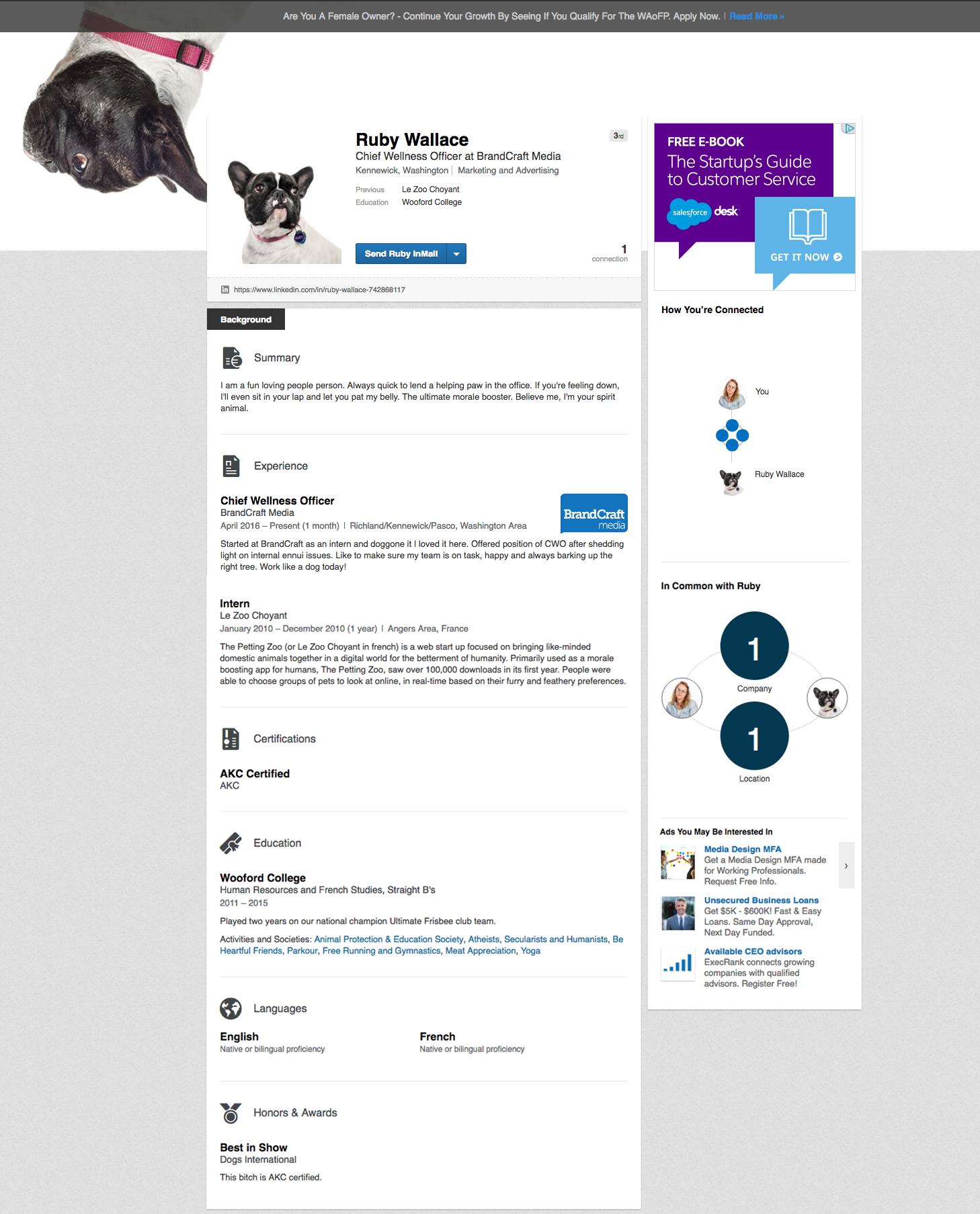 Ruby-Linkedin-Profile