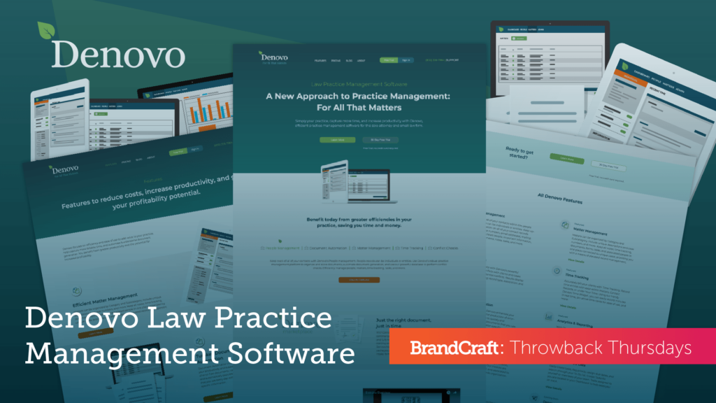 Throwback Thursday Denovo Law Practice Management Software