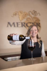 Mercer wine tasting bar and wine glasses - food photography by BrandCraft Marketing