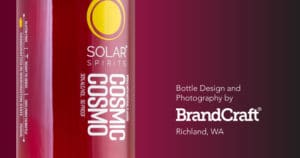 solar spirits cosmic cosmo bottle design