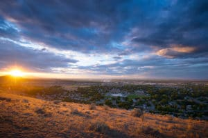 Badger Mountain sunset from Thompson hill by BrandCraft Marketing