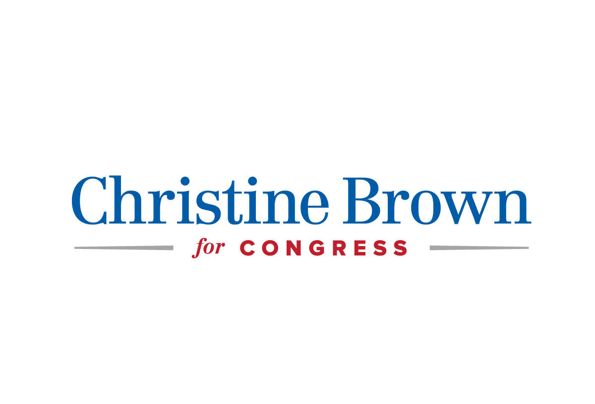 Christine Brown for Congress logo