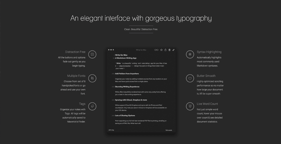 Example of what dark mode looks like—all black background with white text