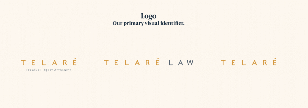 Name and logo rebrand of a local Law Firm that changed their name of their business. BrandCraft's client Teleare Law