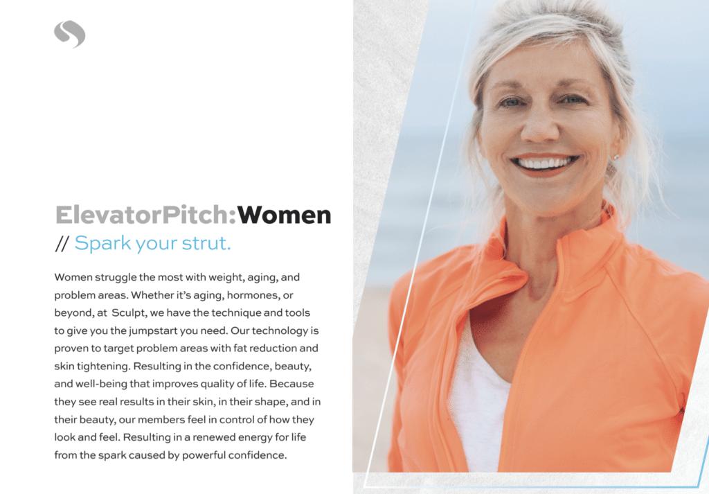 BrandCraft's client Sculpt Tri-Cities targeting women as their audience