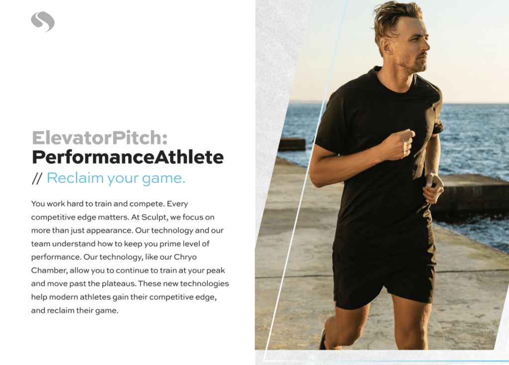 BrandCraft's client Sculpt Tri-Cities targeting performance athletes as their audience