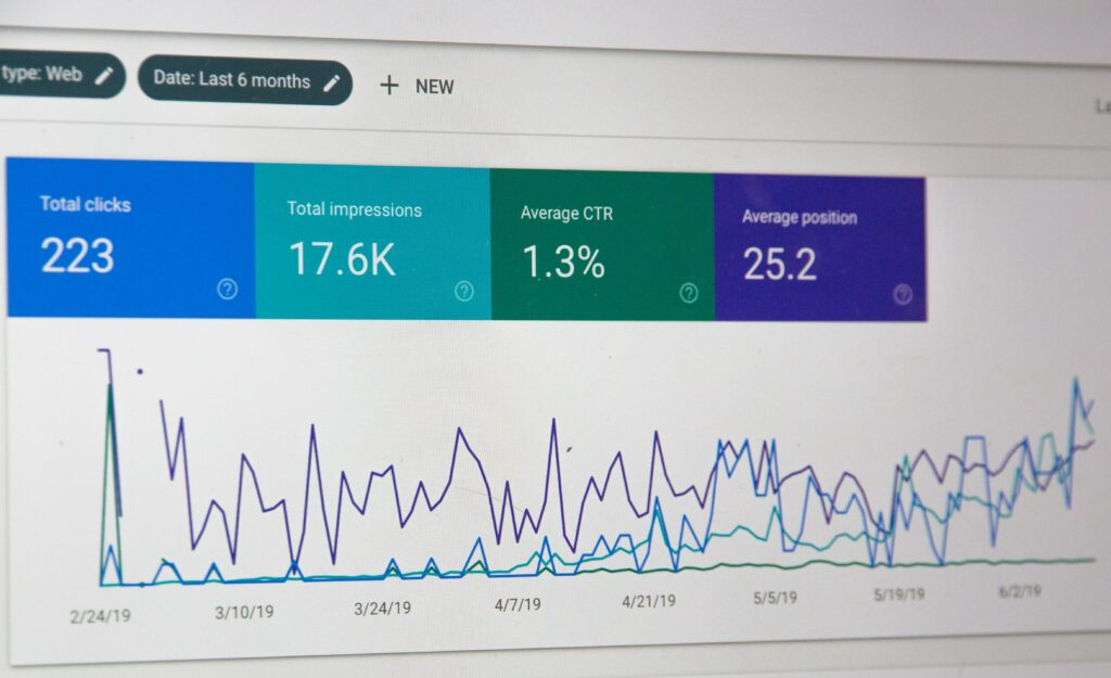 example of google analytics back end for tracking and displaying data