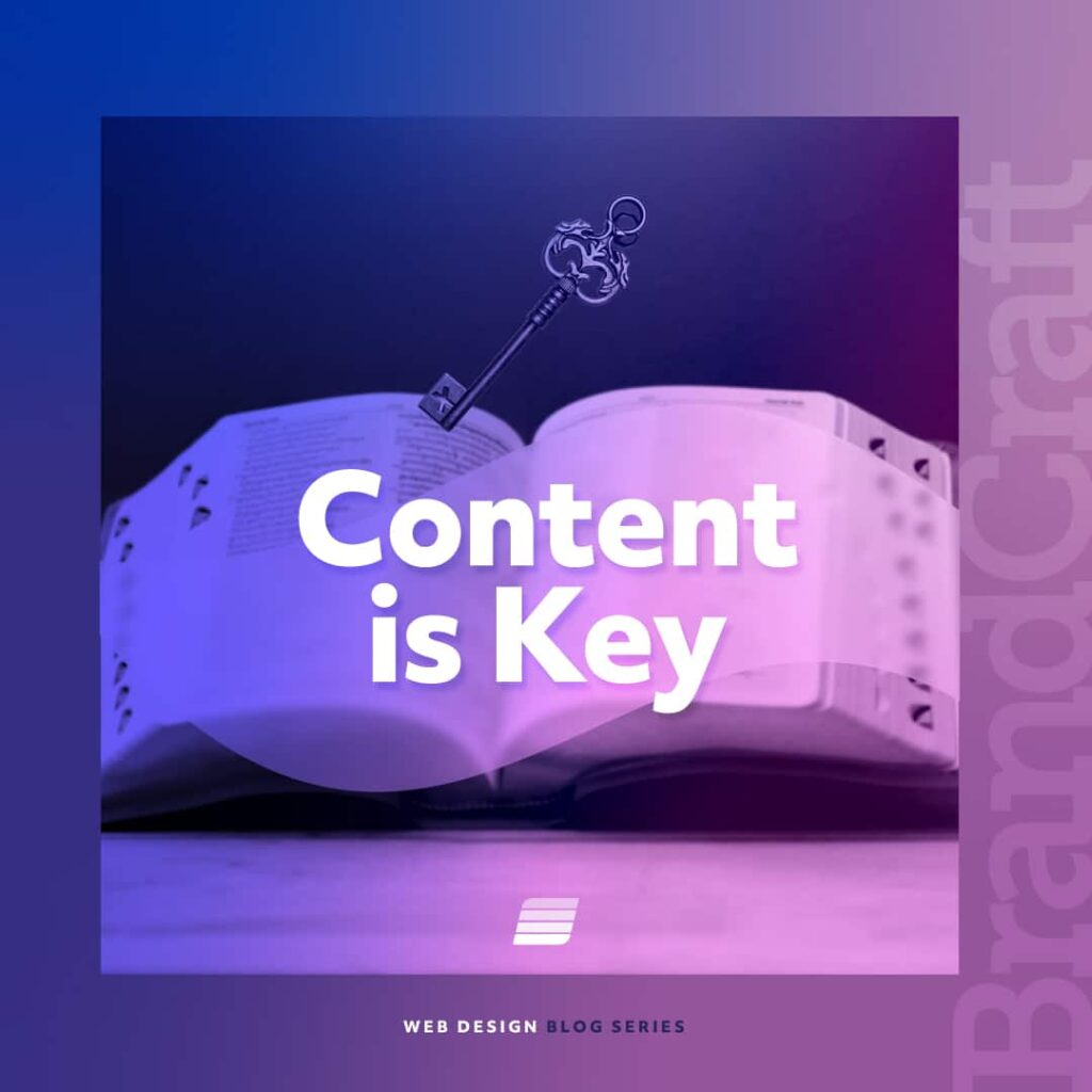 Website content is key