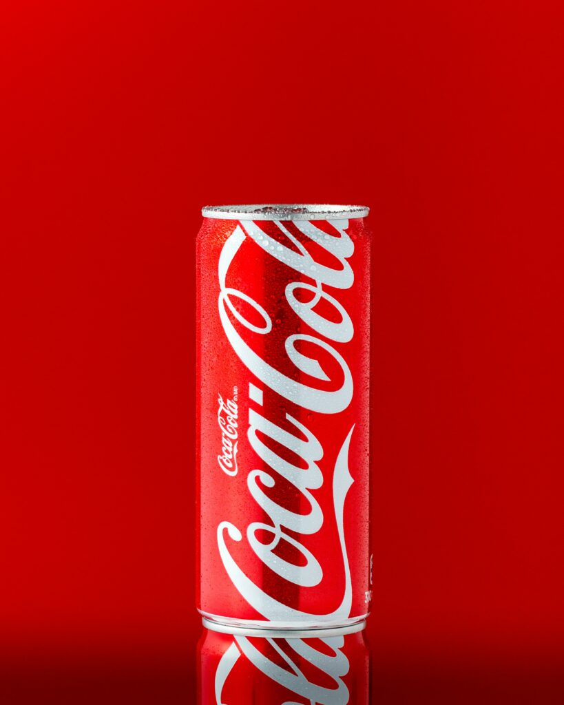 Coca-Cola's brand colors which are red factor into their brand identity