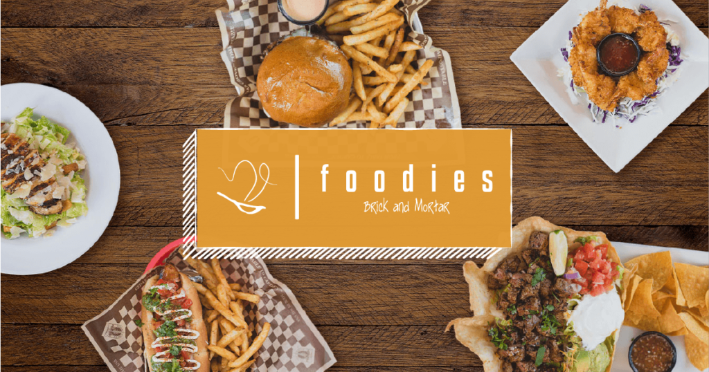 examples of Foodies dishes with their logo included