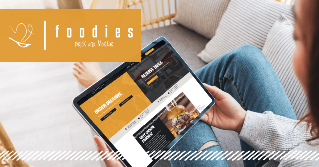 Foodie website design & development showcased on a tablet