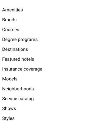 example of a company's main products and services displayed on Google Ads