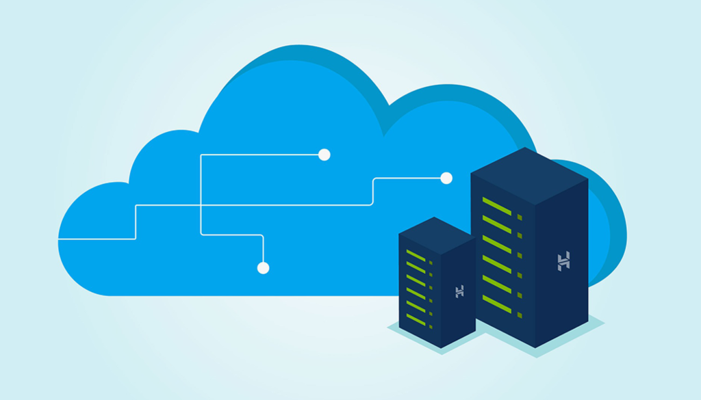 web hosting option stemming from the cloud in a graphic