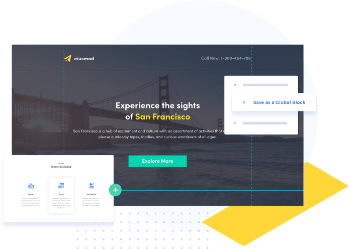 example of the platform Instapage landing page builder