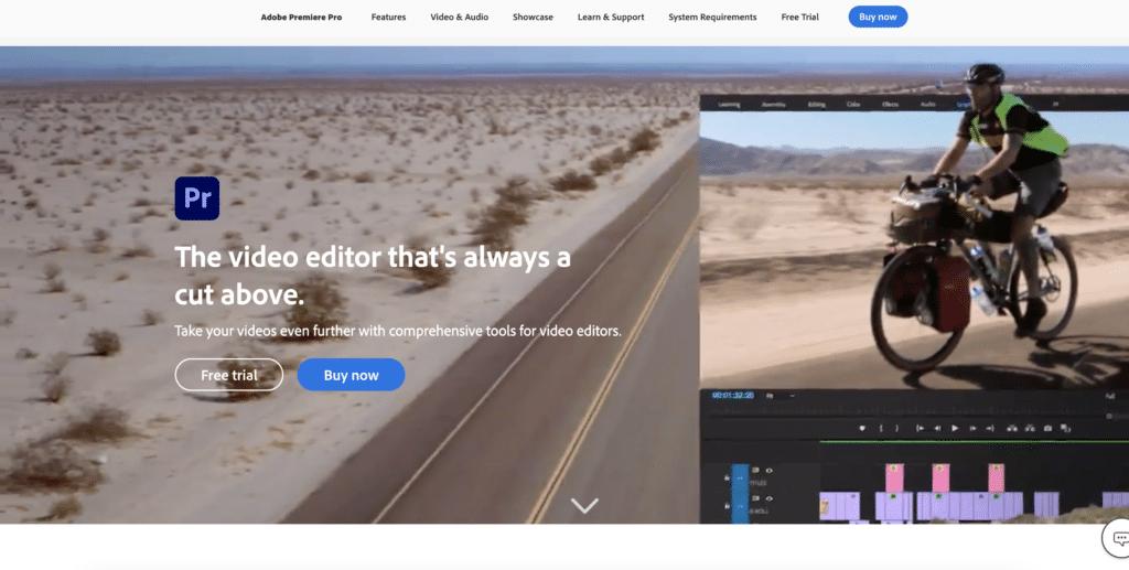 example of website CTAs on Adobe's homepage