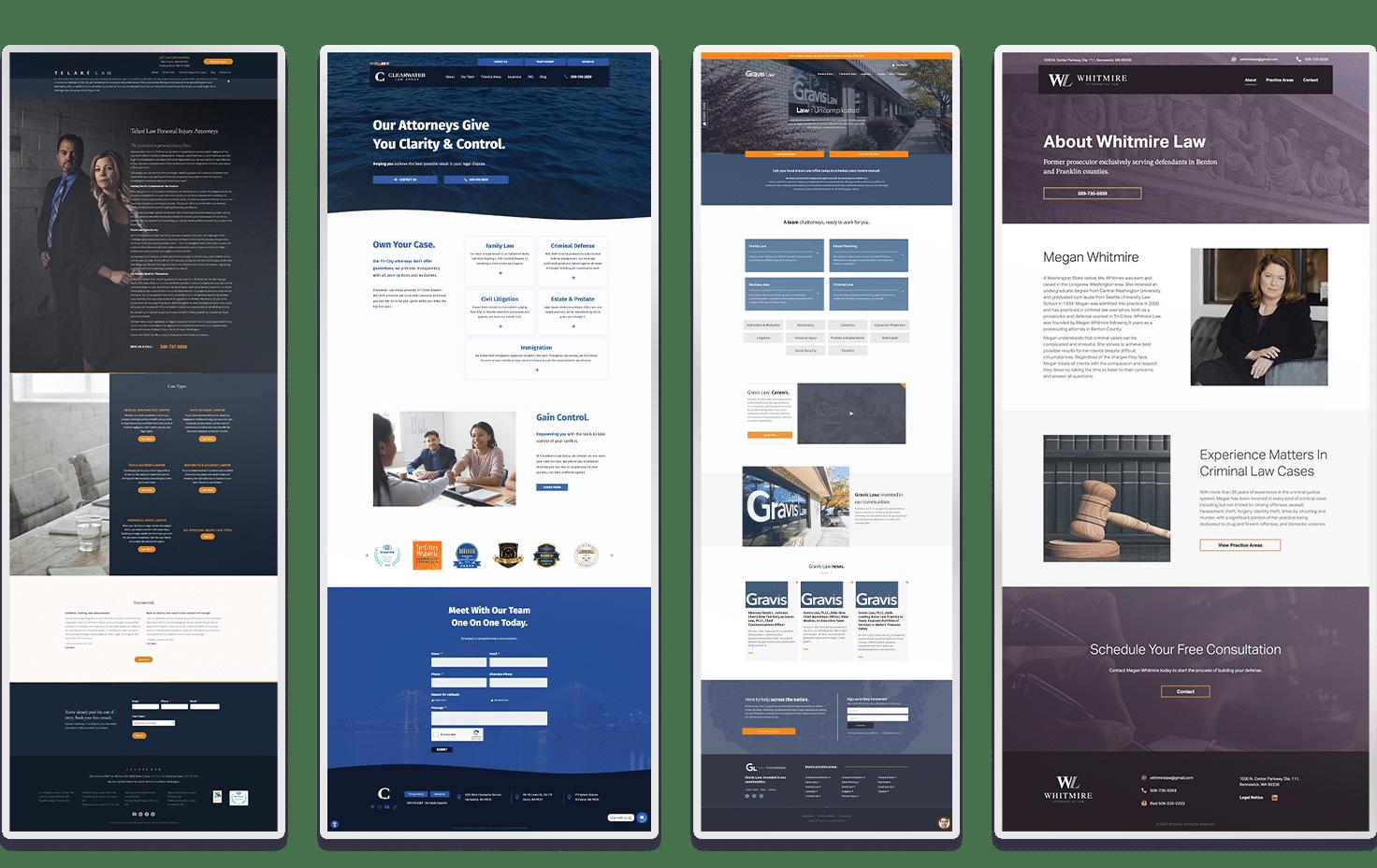 examples of BrandCraft legal website designs