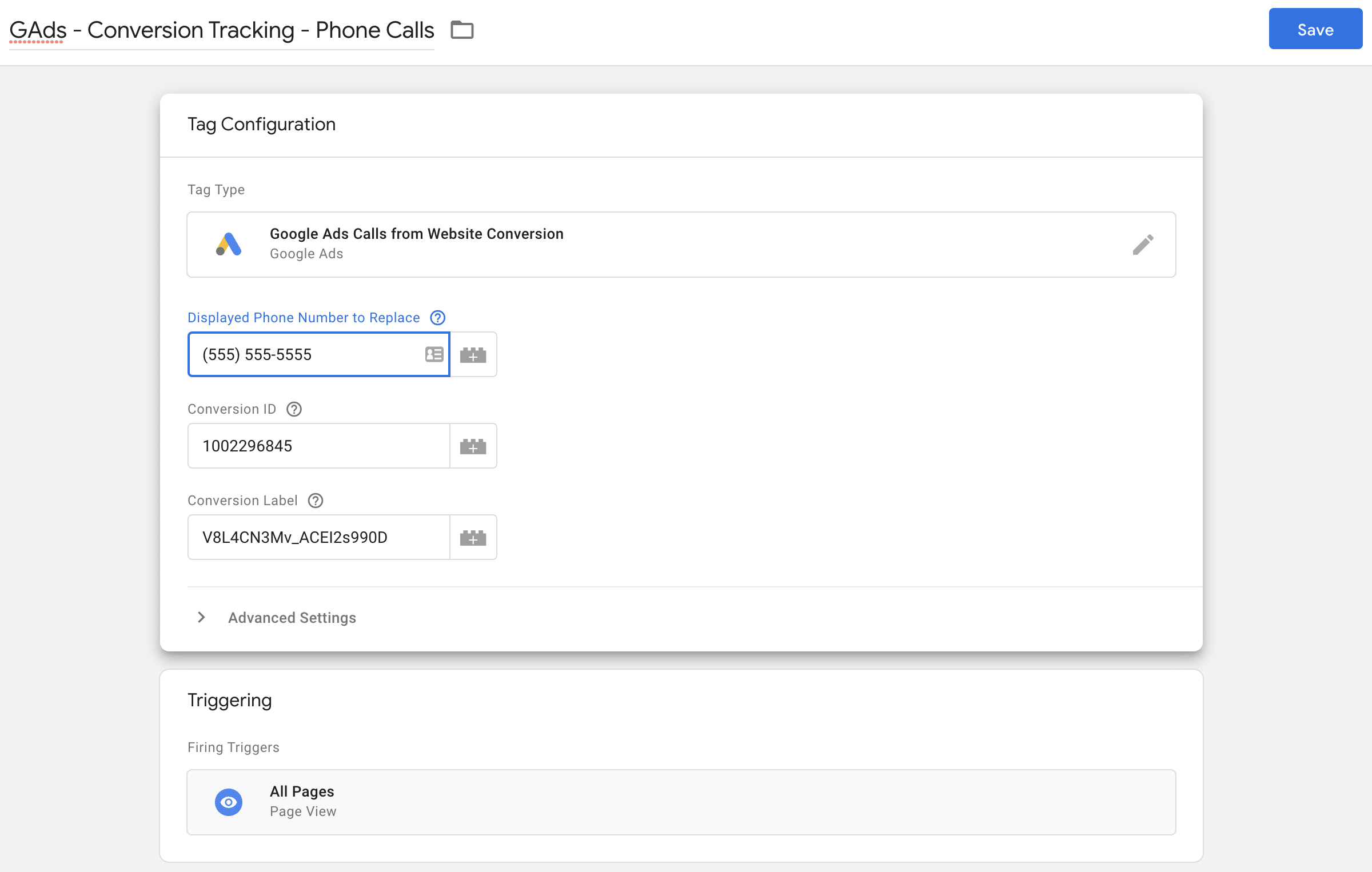 example of trigger certain events to fire on certain pages in Tag manager