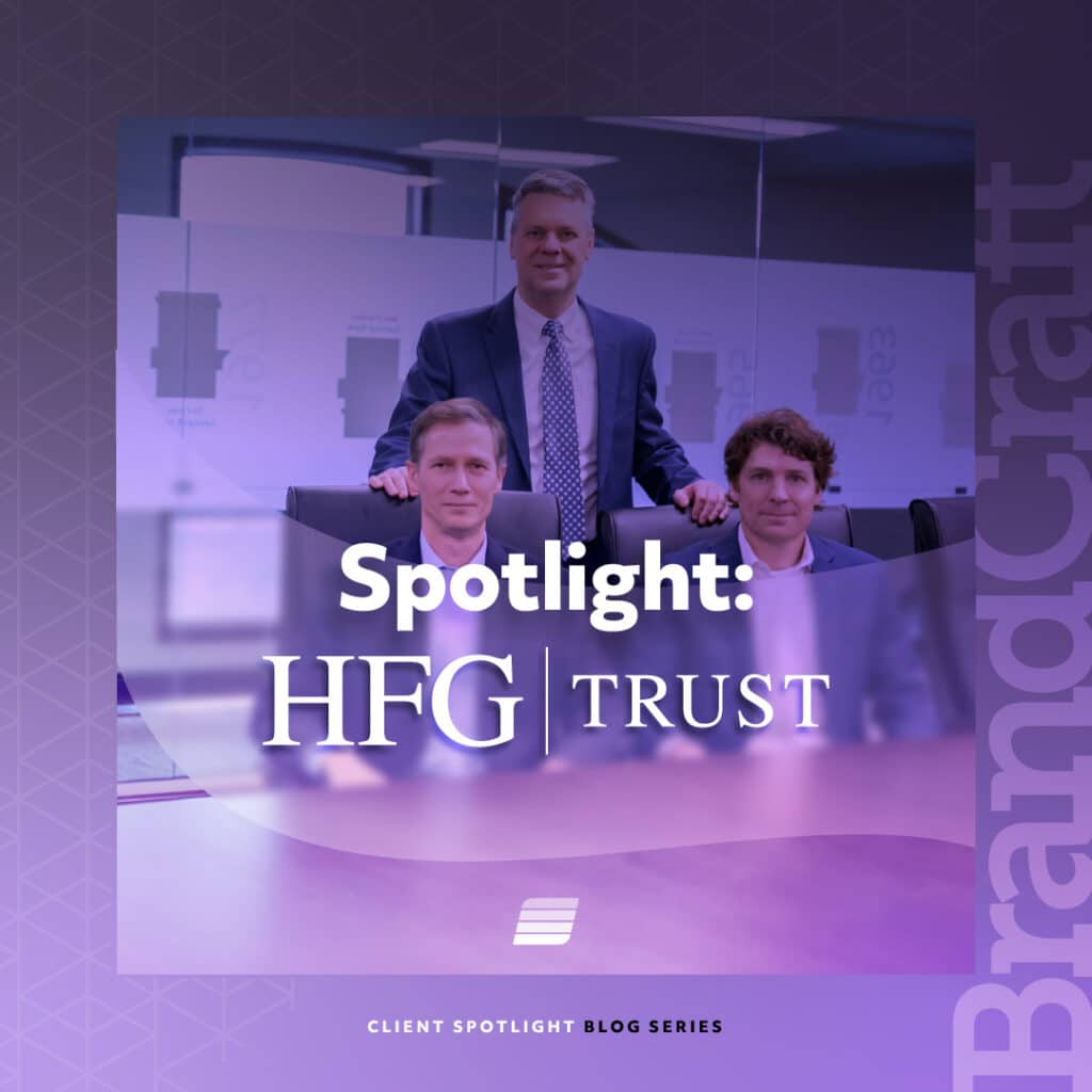 client spotlight HFG Trust Web development